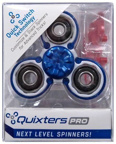 Quixters White Pro Spinner [Blue Outside]