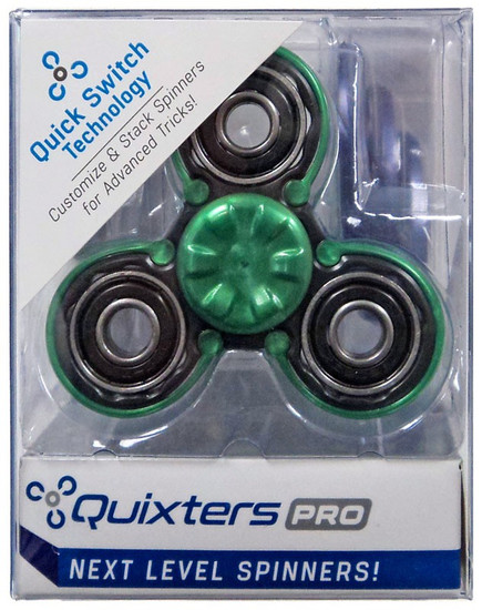 Quixters Black Pro Spinner [Green Outside]