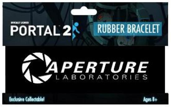 Portal 2 Aperture Laboratories Logo Rubber Bracelet [Black]