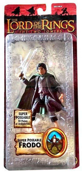 The Lord of the Rings The Two Towers Series 3 Frodo Baggins Action Figure [Super Poseable]