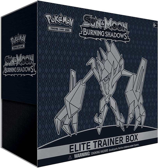 Pokemon Trading Card Game Sun & Moon Burning Shadows Necrozma Elite Trainer Box [8 Booster Packs, 65 Card Sleeves, 45 Energy Cards & More]