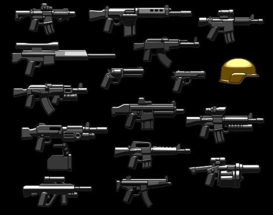 BrickArms Modern Combat Assault 2.5-Inch Weapons Pack