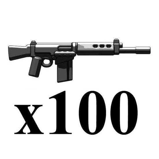 BrickArms Lot of 100 NATO Battle Rifle 2.5-Inch [Black]
