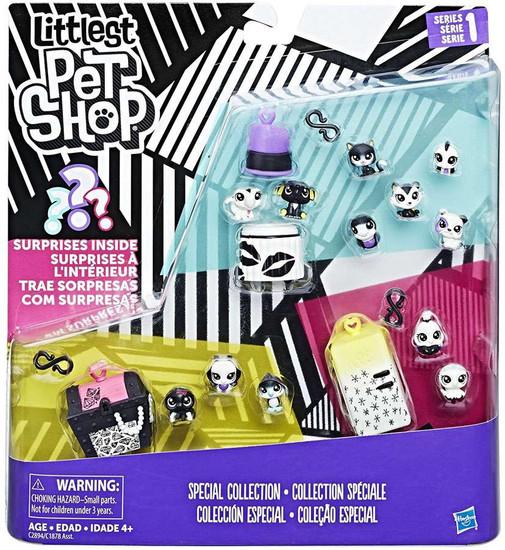 Littlest Pet Shop Black & White Series 1 Special Collection #1 Figure Set
