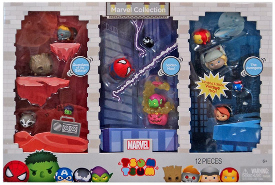Tsum Tsum Marvel Collection Exclusive 1-Inch Minifigure 12-Pack [Guardians of the Galaxy, Spider-Man & The Avengers]