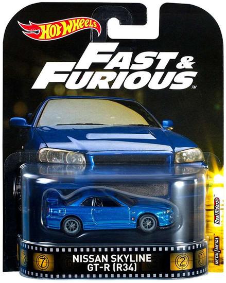 Hot Wheels Fast & Furious Nissan Skyline GT-R [R34] Diecast Car