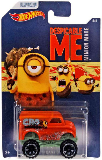 Hot Wheels Despicable Me Minion Made Monster Dairy Delivery Diecast Car