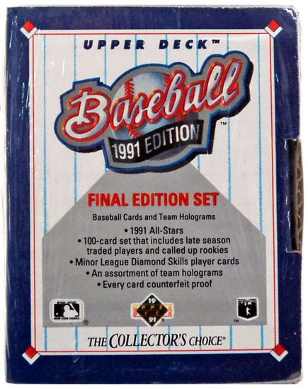 MLB 1991 Final Edition Set Trading Card Set