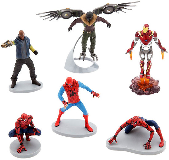 Disney Marvel Spider-Man Homecoming Exclusive 6-Piece PVC Figure Play Set