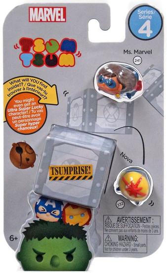 Tsum Tsum Series 4 Ms. Marvel & Nova 1-Inch Minifigure 3-Pack #241 & 322