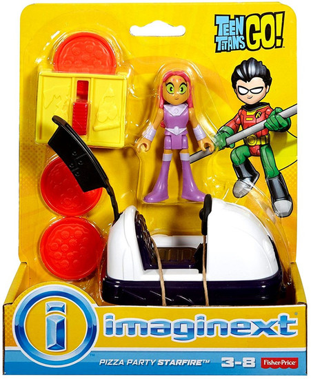 Fisher Price Teen Titans Go! Imaginext Pizza Party Starfire 3-Inch Figure Set