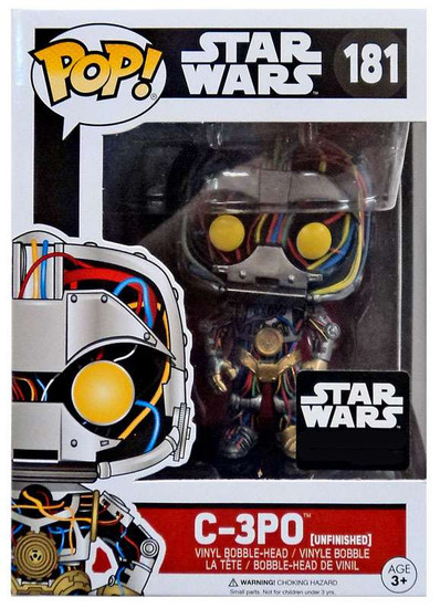 Funko POP! Star Wars C-3PO Exclusive Vinyl Bobble Head #181 [Unfinished, Droids Box]