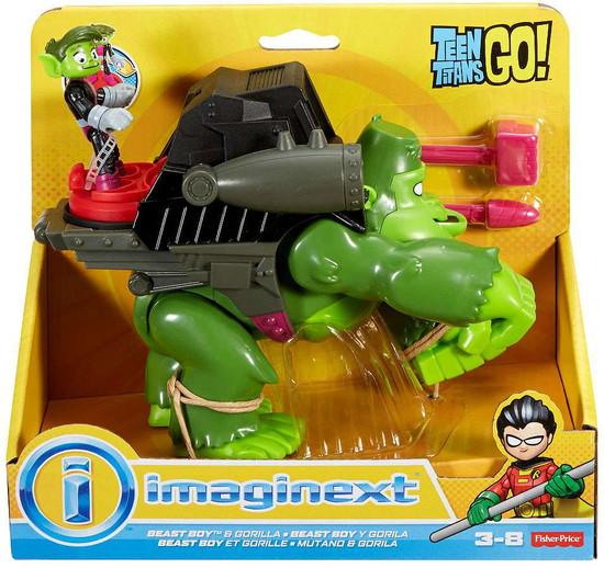 Fisher Price Teen Titans Go! Imaginext Beast Boy & Gorilla 3-Inch Figure Set