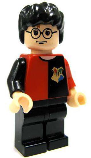 LEGO Harry Potter Minifigure #1 [Tournament Red & Black Shirt, Black Pants Loose]