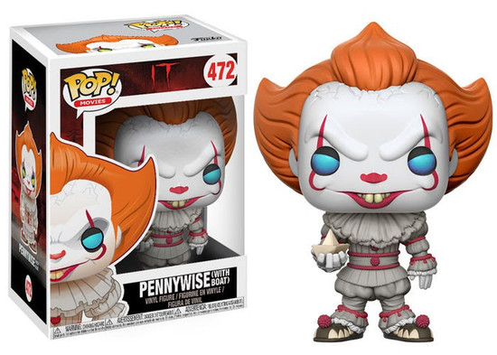Funko IT Movie (2017) POP! Movies Pennywise (with Boat) Vinyl Figure #472 [Full Colored, Regular Version]