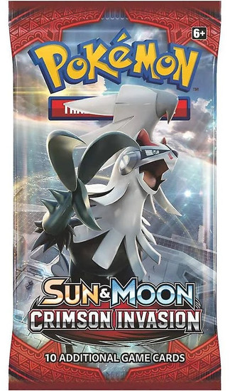 Pokemon Trading Card Game Sun & Moon Crimson Invasion Booster Pack [10 Cards]