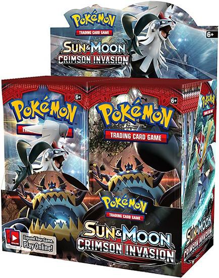 Pokemon Trading Card Game Sun & Moon Crimson Invasion Booster Box [36 Packs]