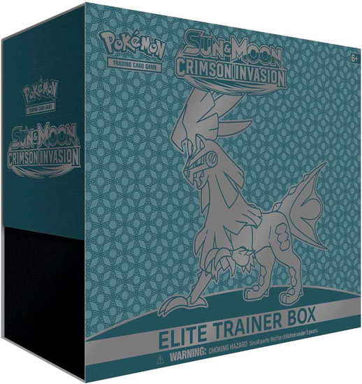 Pokemon Trading Card Game Sun & Moon Crimson Invasion Silvally-GX Elite Trainer Box [8 Booster Packs, 65 Card Sleeves, 45 Energy Cards & More]