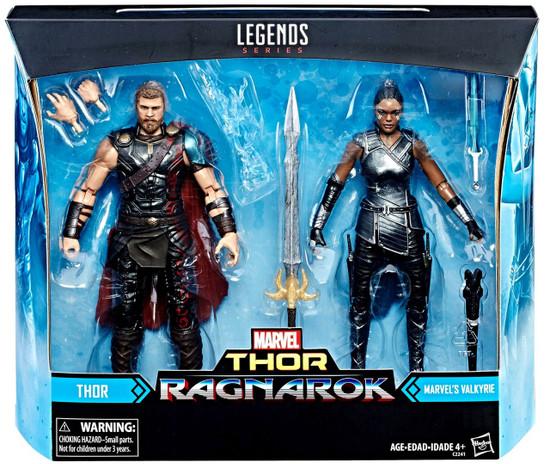 Thor: Ragnarok Marvel Legends Thor & Valkyrie Exclusive Action Figure 2-Pack