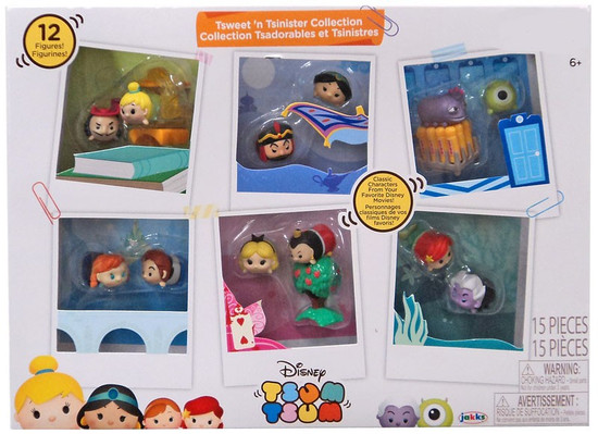 Disney Tsweet 'n Tsinister Collection Exclusive 1-Inch Minifigure 15-Pack