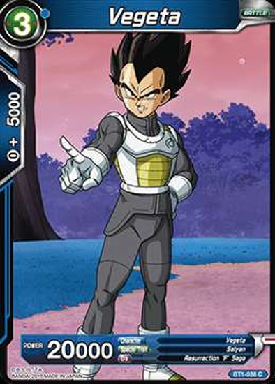 Dragon Ball Super Collectible Card Game Galactic Battle Common Vegeta BT1-038