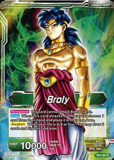 Dragon Ball Super Collectible Card Game Galactic Battle Rare Broly BT1-057