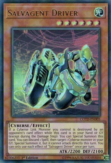 YuGiOh Code of the Duelist Ultra Rare Salvagent Driver COTD-EN005