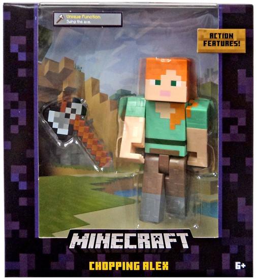 Minecraft Survival Mode Chopping Alex Action Figure