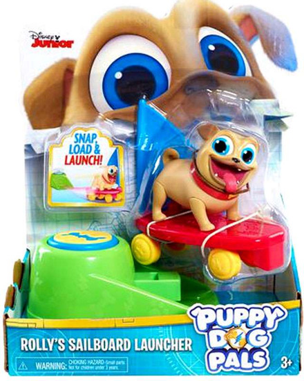 Disney Junior Puppy Dog Pals Rolly's Sailboard Launcher Action Figure