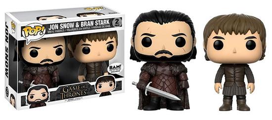 Funko Game of Thrones POP! TV Jon Snow & Bran Stark Exclusive Vinyl Figure 2-Pack