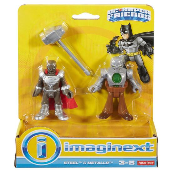 Fisher Price DC Super Friends Imaginext Steel & Metallo Figure 2-Pack