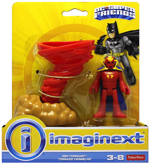 Fisher Price DC Super Friends Imaginext Red Tornado Action Figure