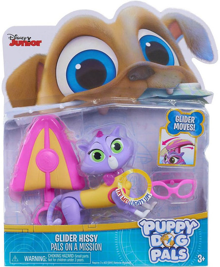Disney Junior Puppy Dog Pals Light Up Pals On A Mission Glider Hissy Action Figure [Glider Moves]