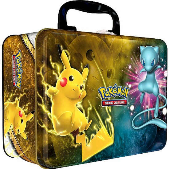 Pokemon Trading Card Game 2017 Collector's Chest Pikachu & Mew Tin Set [5 Shining Legends Booster Packs, 3 Promo Cards, Mini Portfolio, Coin & More]