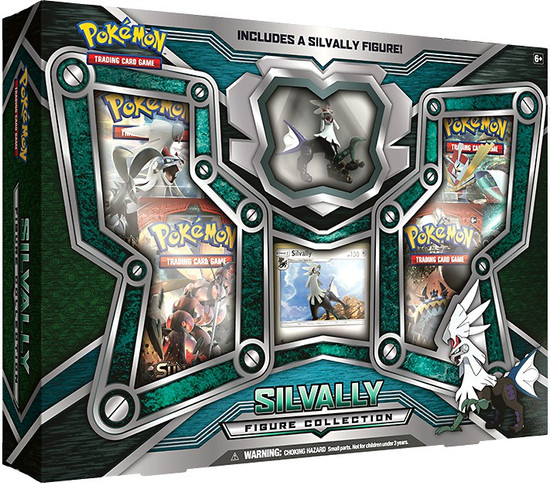Pokemon Trading Card Game Silvally Figure Collection [4 Booster Packs, Promo Card & Figure]