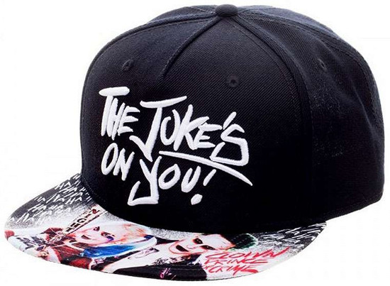 DC Suicide Squad The Joker & Harley The Jokes on You Snapback Cap Apparel