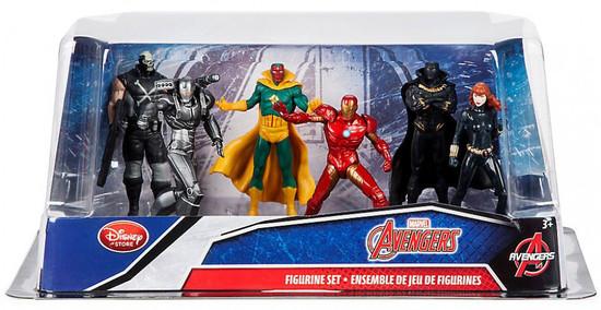 Disney Marvel Avengers Exclusive 6-Piece PVC Figure Play Set [Iron Man, Black Widow, Black Panther, Vision, War Machine & Crossbones]