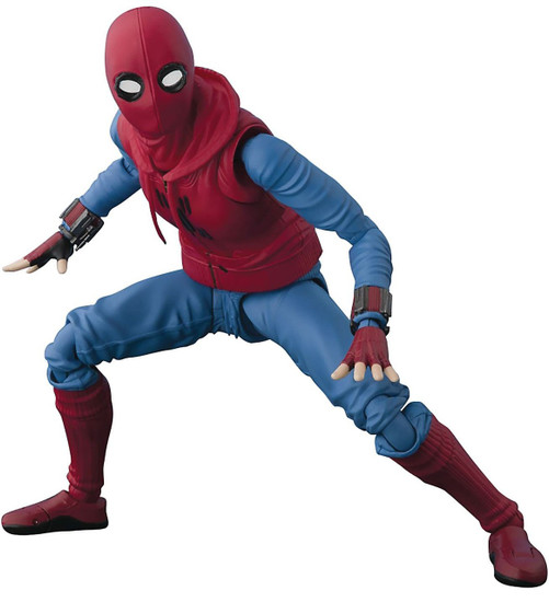 Marvel Spider-Man Homecoming S.H. Figuarts Spider-Man Homemade Costume Action Figure [Tamashii Option Act Wall ]