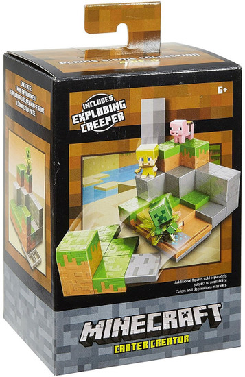 Minecraft Plains Biome Collection Crater Creator Mini Figure Environment Playset #4 of 4 [Includes Exploding Creeper]