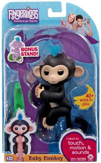 Fingerlings Baby Monkey Finn Figure [with Bonus Stand]
