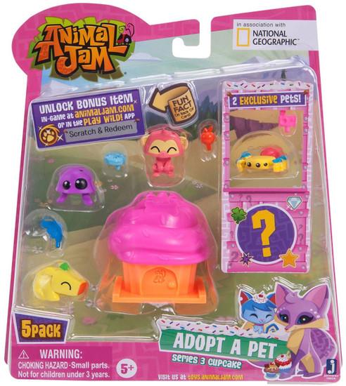 Animal Jam Series 3 Cupcake Mini Figure 5-Pack #4 [Hot Pink]