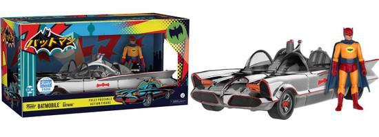 Funko DC Batman 1966 TV Series Chrome Batmobile with Batman Exclusive Action Figure Set