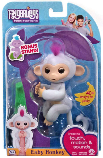 Fingerlings Baby Monkey Sophie Figure [with Bonus Stand]