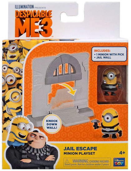 Despicable Me Minions Movie Jail Escape 2-Inch Micro Playset