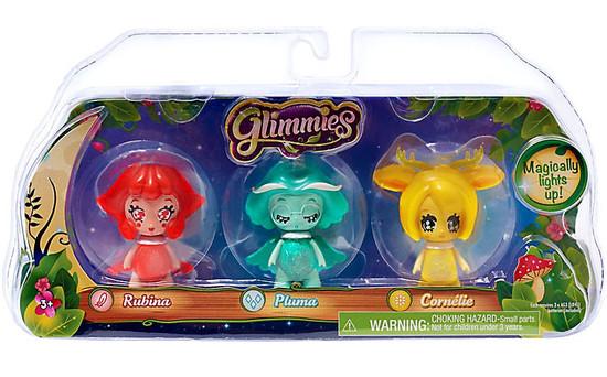 Glimmies Rubina, Pluma & Cornellie Figure 3-Pack