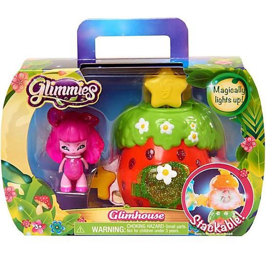 Glimmies Strawberry Glimhouse & Pink Glimmie Figure Set