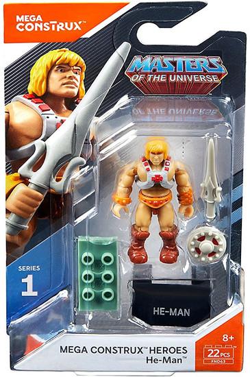 Mega Construx Masters of the Universe Heroes Series 1 He-Man Mini Figure