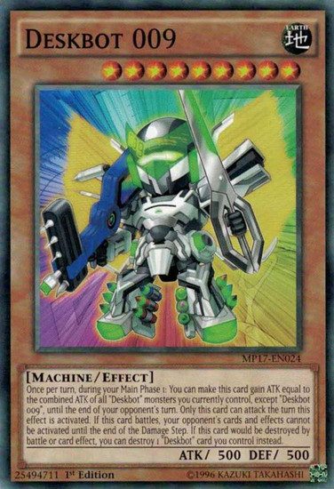 YuGiOh 2017 Mega-Tin Mega Pack Common Deskbot 009 MP17-EN024