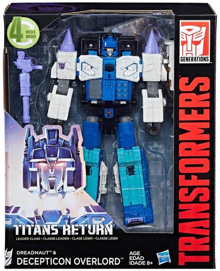 Transformers Generations Titans Return Dreadnaut & Decepticon Overlord Leader Action Figure