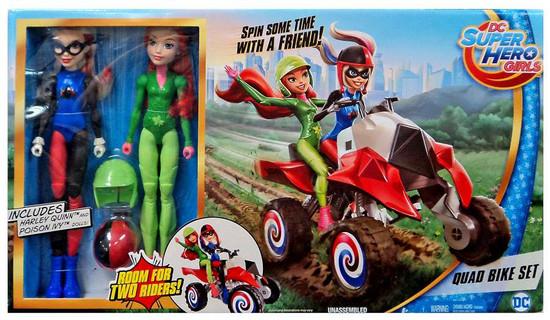 DC Super Hero Girls Quad Bike 12-Inch Playset [Includes Harley & Poison Ivy!]